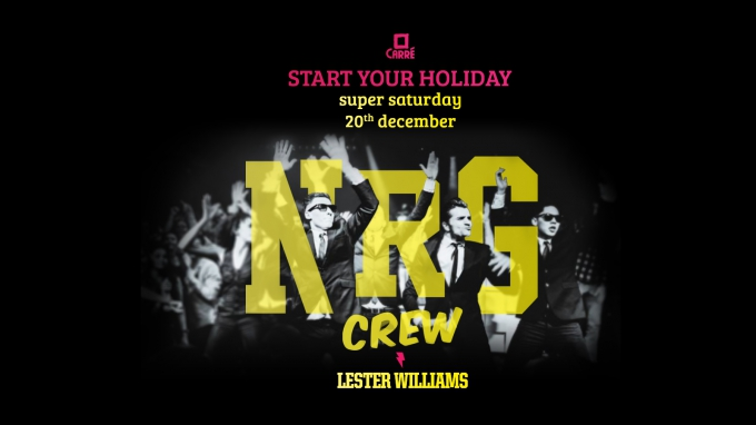 Start Your Holiday with the NRG Crew!, Saturday 20 december 2014
